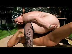 Muslim BBW Granny Fucked Outside