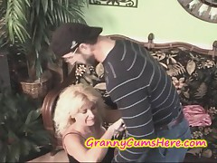 HOT Granny gets a BIG CREAM PIE