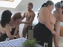 FIT YOUNG GUY FUCKS MATURE ORGY BBW 4