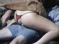 Young couple caught fucking on the beach - csm