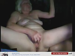 Amateur. Granny had fun on web cam