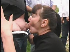 Mature gangbanged by blacks outdoor