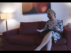 Attractive mature milf slowly strips