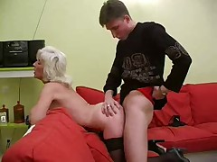 Granny Inga with Saggy Tits Gets Fucked by snahbrandy