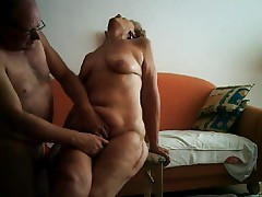 Big orgasm of a 64yo granny