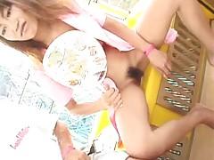 Japanese girl on funfair