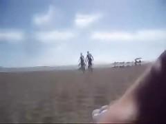Public Handjob my wife Gran Canaria beach