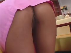 Maid pink cute skirt upskirt