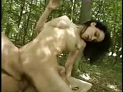 Skinny Arab Girl Fucked in the Car and Outside