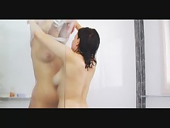 Lesbians in the shower part 1