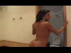 Beautiful Shemale Jerks It Out !!! - by TLH