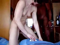 Husband films his wife getting banged by a black dude