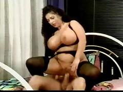 Tiziana Redford Mega Boobs in Black lingerie