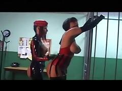 Jail latex dildo