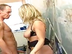 HORNY GERMAN MILF FACIALIZED BY HER EMPLOYEE -JB$R