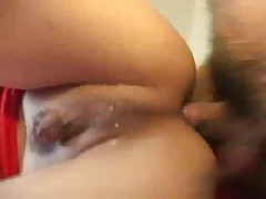 Small dick ladyboy fucked by 2 guys