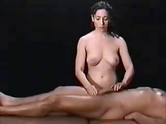 Hot massage session for big dick