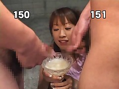 Pervert japan girl drink 157 loads of cum
