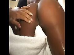 Dubstep shower with 3 ebony beauties