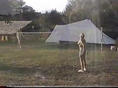 Nude sport Badminton