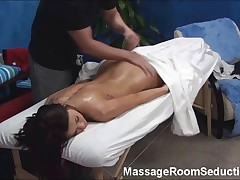 Tall Teen Seduced by Massage and Caught on Hidden Camera