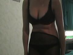 Blonde strip-tease