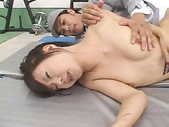 Asian chick used as a punch bag then gets fucked