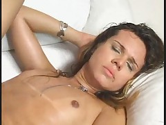 Tranny Leticia Fucks Nicely and Gets Facial