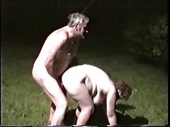 Mate fucking wife outside