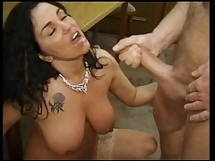 Two busty german girls getting fucked by 7 men