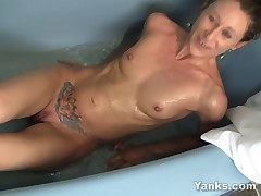 New wife Amberly showing us her private masturbation trick