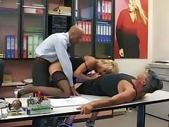 Blonde Secretary Fucks Her Boss