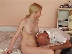 Teen fuck two older man