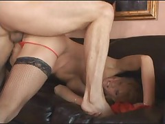 Shemale Astrid Gets Fucked Bareback