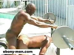 Muscular gay black men fucking