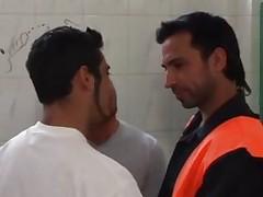 Gay gang meets at the toilet