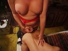 Tranny fucks and gets spermed too