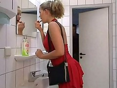 Public Bathroom Fuck And Swallow