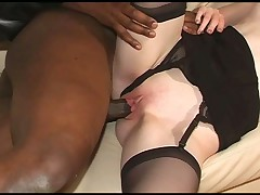 Curly brunette interracial experience