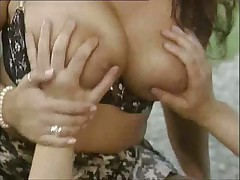 Busty german fucked outside