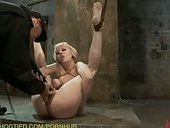 Seda, Lexi Brooks, Cherry Torn are bound and made to suck cock