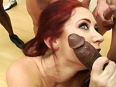 Jayden James gets surrounded by cock