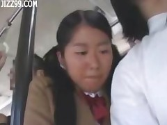 Schoolgirl Fuecked By Geek On Bus And Facial Cumshot