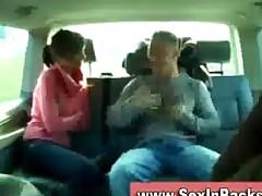 German Girl Sucks Bf In His Car