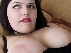 Cute Chubby Emo Babe Has Nice Big Tits