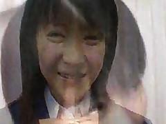 Yuria Hidaka In Her School Uniform Receives Messy Bukkake