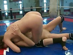 Wild Girls In Nude Wrestling