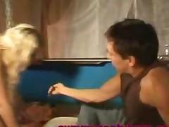 Blondes Cummed Pantyhose
