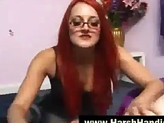 Redhead Punishes With Harsh Handjob