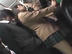 Schoolgirl Giving Blowjob For Business Man On The Train